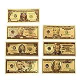 Rosepoem 1 2 5 10 20 50 100 Dólar conmemorativo Oro plateado antiguo Recuerdo Decoración