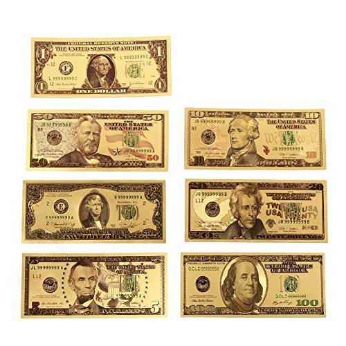 Rosepoem 1 2 5 10 20 50 100 Dólar conmemorativo Oro platead