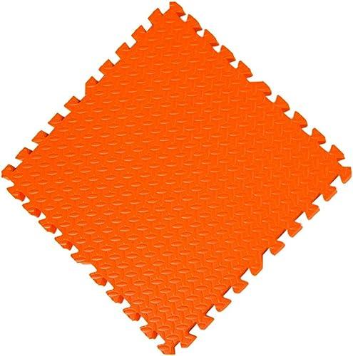 YANGJUN Puzzle Tapis Mousse Bébé Enfant Antidérapant Doux Enfant Multifonction Prougeection EmBoîteHommest (Couleur   Orange, Taille   60x60x1.2cm-10PCS.)