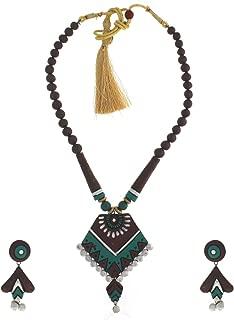 Best terracotta necklace set online Reviews