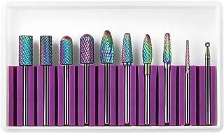Makartt Nail Drill Bits Set, 10Pcs Tungsten Carbide Nail Drill Bits Remove Acrylic Poly Nail Gel Nail Polish B-36, 3/32 in...