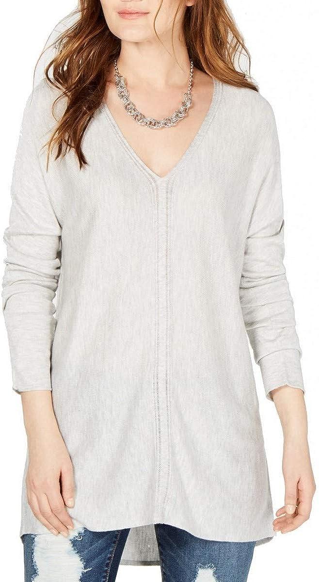 INC Women's High-low Hem Tunic V-Neck Sweater Top