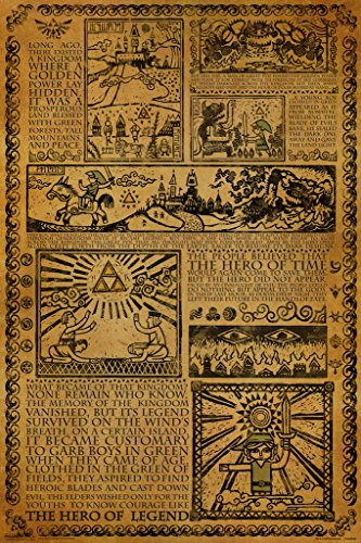 Pyramid America Zelda Story of The Hero Mythology Timeline Video Game Gaming Cool Wall Decor Art Print Poster 12x18