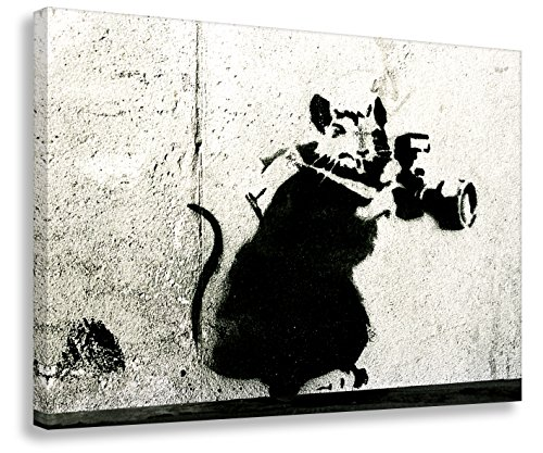 Kunstbruder Banksy/Camrat - Lienzo decorativo 3D (4 cm, 90 x 120 cm), diseño de grafiti