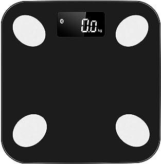 Básculas De Peso Digitales Inteligentes Báscula De Grasa Corporal Bluetooth Medir El Peso IMC BMR Porcentaje De Grasa Corporal Agua Corporal,Negro