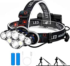 Portable 8-LED Mini Headlamp Working Lamp Waterproof Flashlight Powered By 18650 Battery For Nighttime Headlamp 60000LM LE...