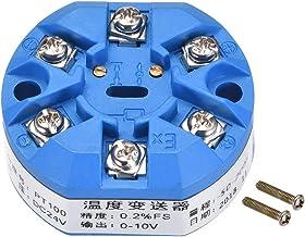 uxcell® PT100 Temperature Sensor Transmitter 24V DC 0-10V -50℃ to 200℃