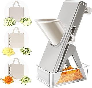خردکن سبزیجات - برش دهنده برش Veggie ، برش پیاز خردکن غذای سالم با ظروف بدون لغزش مناسب برای میوه ، سیب زمینی ، سبزیجات ، هویج ، خیار و غیره (خاکستری)
