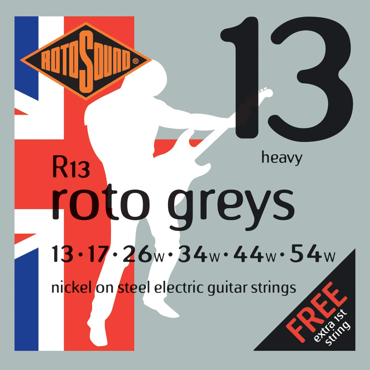 Cheap Rotosound R13 Nickel Heavy Electric Guitar Strings (13 17 26 34 44 54) Black Friday & Cyber Monday 2019