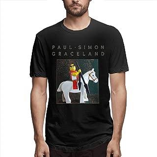 Wanjirong Mens Print Paul Simon Graceland Short Sleeve Shirts