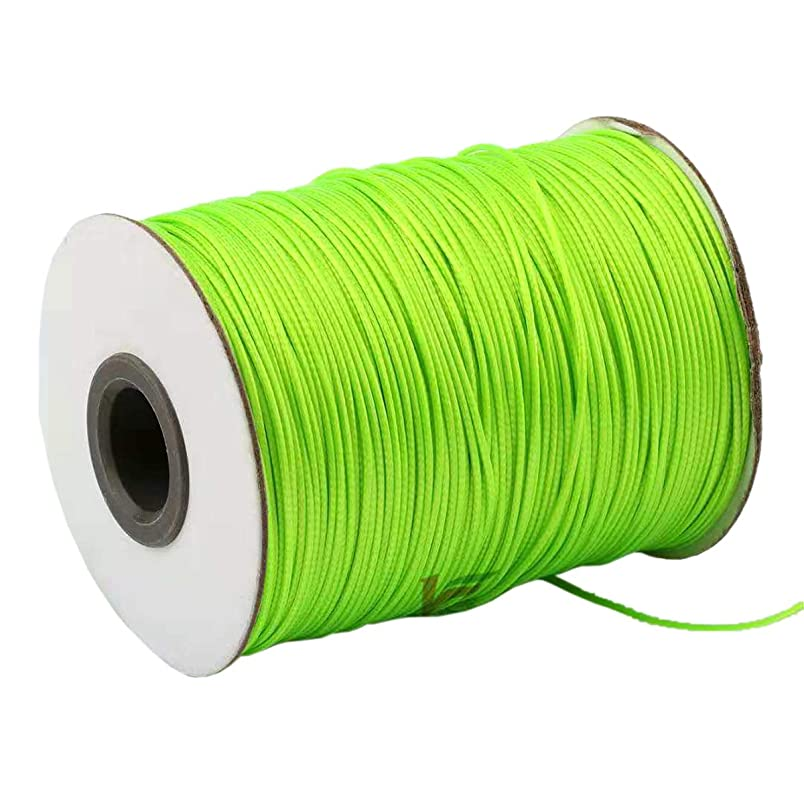 Yzsfirm 1.5mm 175 Yards Jewelry Making Beading and Crafting Macrame Green Waxed Cord Thread for Braided Bracelet DIY Making cq975966769