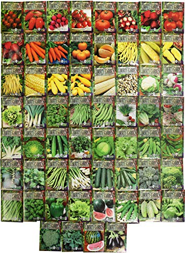Set of 60 Premium Variety Herbs and Vegetables - Deluxe Garden Choices for Premium Gardening! (60...