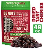 Sincerely Nuts Dried Cherries Sour Tart - Three Lb. Bag –Finest Quality Cherries - Packed with Vitamins & Minerals - Guaranteed Freshness –Kosher Certified