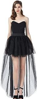High Low Tulle Skirt Steampunk Asymmetrical Overskirt for Women Wedding Evening