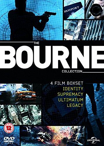 The Complete Jason Bourne Movie 1 - 4 DVD Collection: Bourne Identity / Bourne Supremacy / Bourne Ultimatum / Bourne Legacy
