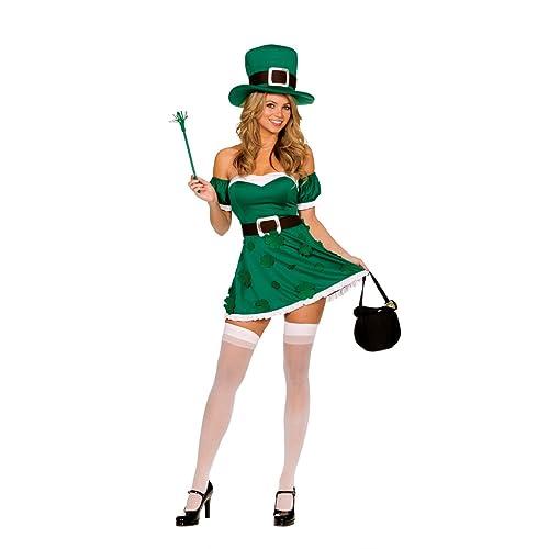 4f0cee8c Dreamgirl Womens Irish Leprechaun Adult Costume
