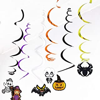 Jnvny 6Pcs Ceiling Hanging Swirl Decoration Halloween Party Decoration DIY Event Party Ornaments Horror House Festival Party