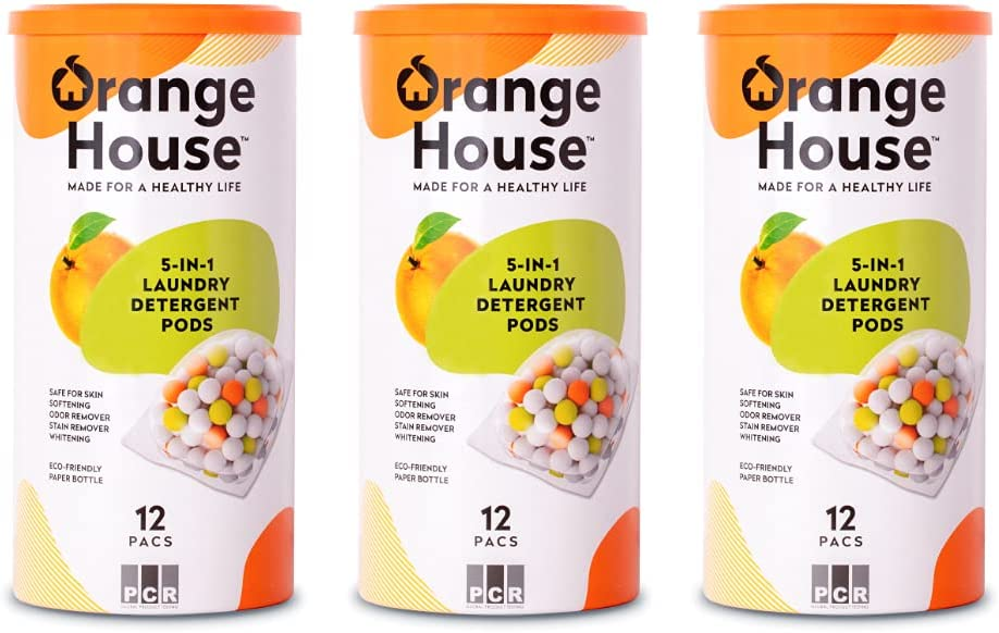 Orange House Laundry Detergent San Jose Mall Save money Pods 12 Soli in 5 Natural Pacs 1