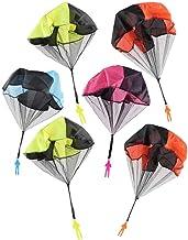 JZK 6X Paracaidista Juguete Mano lanzar Soldado paracaídas Cometas para niños Fiesta cumpleaños Las Bolsas de Relleno