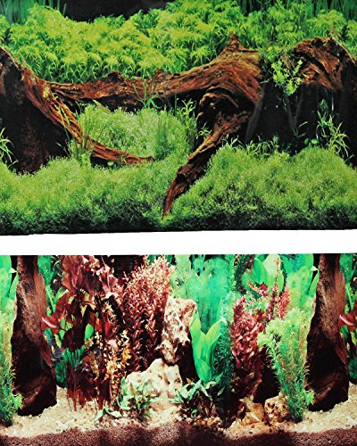 New 9091 20' x 48' Fish Tank Background 2 Sided Driftwood/Floral Background Aquarium