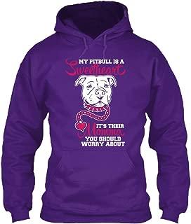 teespring Men's My Pitbull is A. - Sweatshirt - Gildan 8Oz Heavy Blend Hoodie