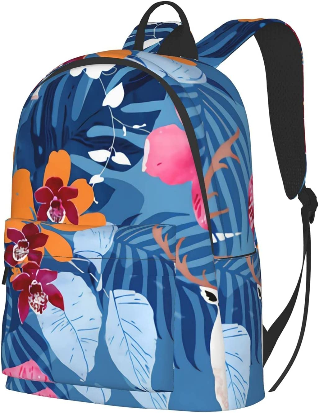 Tropical Max 62% Directly managed store OFF surrealism unicorn deer Laptop Travel Backpack