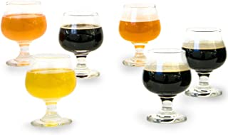 6 Piece Tasting Glass Set, Perfect for Brandy, Whiskey, Scotch, Bourbon, Craft Beer, Spirits & Wine, Short-Stemmed Tulip, 5.5 oz
