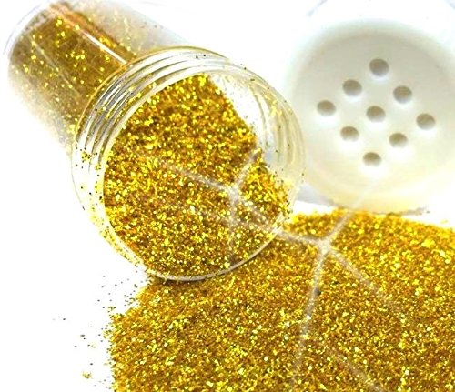 Gold Glitter Glimmer Streudose 10g / 50g / 100g / 240g Glitzer Pulver Deko Nail Art Pulver Puder Nageldesign Glitterstaub Best Ware (1 Stück / 10 Gramm)