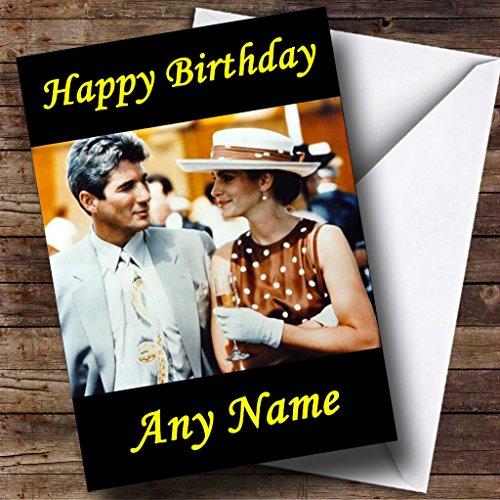 Mooie vrouw gepersonaliseerde verjaardagskaart