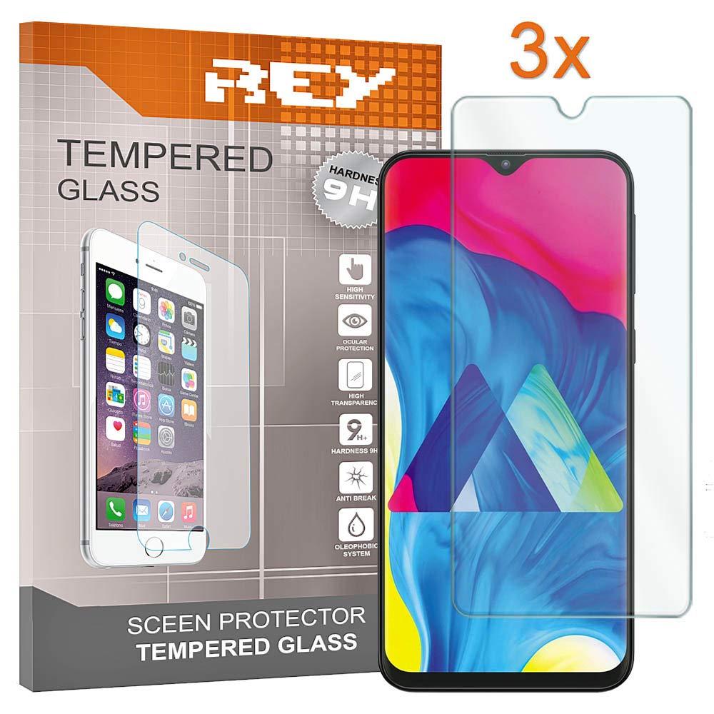 REY 3X Protector de Pantalla para Samsung Galaxy M10: Amazon.es ...