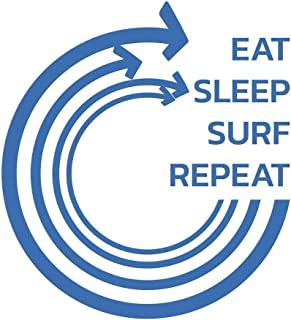 Eat Sleep Surf Repeat: Notebook   Journal   Diary   110 Lined Pages