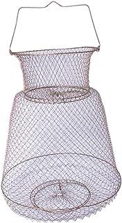 Sunlera Langosta de Malla de Pesca Trampa Plegable Neto de gambas Cangrejo Jaula de Red Plegable de Metal Pescado Alambre Shrimp Basket