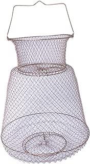 Tralntion Lobster Mesh Fishing Net Prawn Crab Cage Folding Trap Net Foldable Metal Wire Fish Shrimp Basket