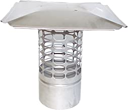 The Forever Cap CCSS5R 5-Inch Stainless Steel Slip in Round Chimney Cap