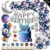 67ピース誕生日バルーン,男の子のために誕生日パーティー飾り付け豪華な風船セット星型丸型宇宙装飾誕生日パーティ― お祝い happy birthdayバルーン