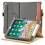 EasyAcc Leder Hülle für iPad 9.7 2018 iPad 6/2017 iPad 5/ iPad Air/Air 2, 360 Grad Drehung mit...