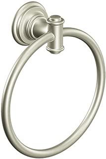 Moen DN9186BN Ellsworth Bathroom Hand Towel Ring, Brushed Nickel