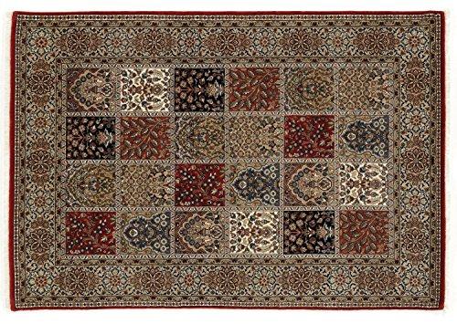 TIWA GHOM echter klassischer Orient Felderteppich handgeknüpft in rot-creme, Größe: 200x300 cm