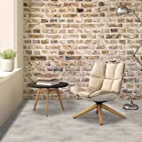 Achim Home Furnishings VFP2.0FW10 Farmhouse White Tivoli II 6' x 36' Self Adhesive Vinyl Floor Planks-10 Planks/15 sq. ft