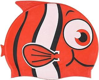 55844eeea62e Sconosciuto Cuffia da Piscine in Silicone a Forma di Pesce per Bambini,  Unisex