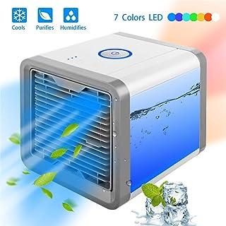 Mini ventilador de aire acondicionado portátil de pequeño espacio refrigerador personal USB de escritorio compacto evaporador humidificador de aire