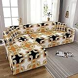 WXQY Funda de sofá elástica para Sala de Estar Todo Incluido Spandex Funda de sofá en Forma de L Fundas para sofá Fundas para sillones Funda para sillones A1 3 plazas