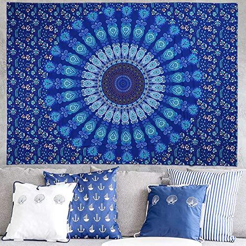 N / A Mandala Tapestry Hippie Boho Wall Decorative Wall Hanging Yoga Mat Throw Blanket Rug Bedspread Table Cloth A6 150x200cm