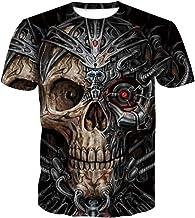 Zomer 3D T-Shirt, Schedel afdrukken Patroon Shirt,...