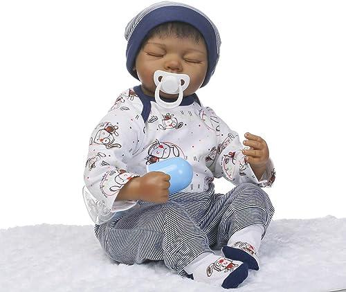 0Miaxudh 46cm Reborn Puppe, Vinylsilikon Lebensechtes Reborn Babypuppe mit Decke, Kinder t chen Spielzeug vor grau