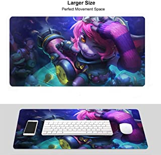 Professional Gaming Mouse Pad for League Legends,LOL Stitched Edges for Pc Computer Laptop (Champion Tristana Riotgirl)