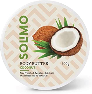 Amazon Brand - Solimo Body Butter - Coconut - 200 gms