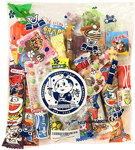 Samurai Dagashi Set, Japanese Snack Assortment 25pcs