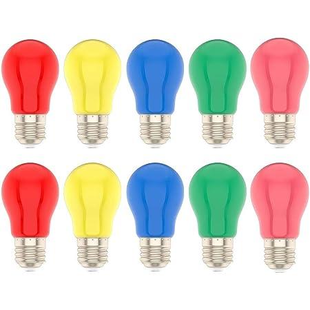10X Ampoule LED de couleur 1W E27 à vis Ampoule Multicolore pour Mariage Halloween Fête De Noël Bar Ambiance Ambiance Décor