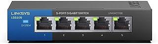 Linksys Lgs105-Eu Desktop Gigabit-Switch Voor Bedrijven, 5-Poorts, Zwart
